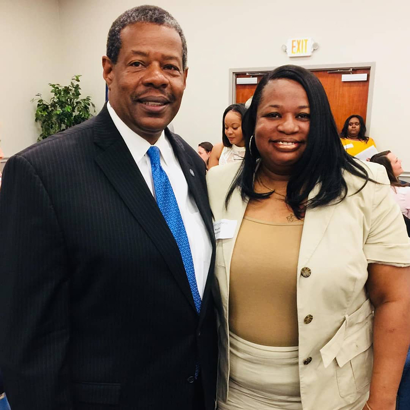 Dr. Rhames and nicole McCume
